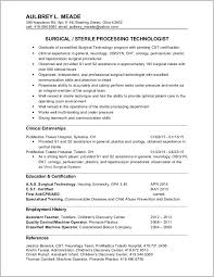 Entry Level Surgical Tech Resume Sample Resume Resume Examples
