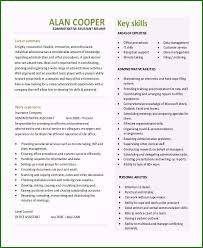 Key Skills Resume Administrative Assistant Admin Assistant Resume Examples Trendy 10 Executive