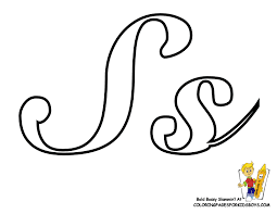 Small Picture Classic Coloring Pages Alphabet Cursive Letters Free