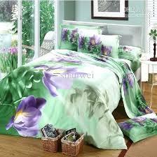 purple and green comforter set purple green comforter sets flower reactive dyeing bedding set 2
