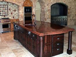 red marble and granite countertops