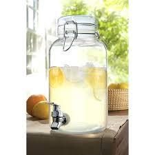 large glass drink dispenser large 3 gallon