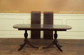 Two Pedestal Dining Table New American Made Antique Style Double Pedestal Dining Table