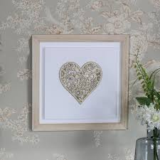 decorative heart wall plaque picture art vintage shabby chic gift decoration