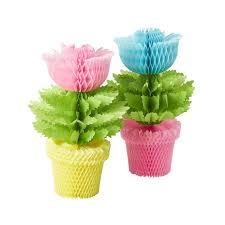 Paper Flower Pots Rice Dk Paper Flower Pots Honeycomb Decoration