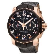 corum watches jomashop corum admirals cup leap secnod black dial automatic men s chronograph watch