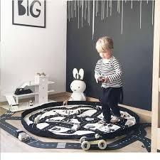 portable kids play mat baby crawling blanket round rug children adventure racing carpet infant toys