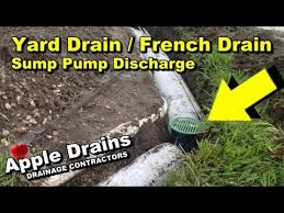 backyard sump pump. Exellent Pump Backyard Drainage French Drain With Sump Pump Discharge Intended P