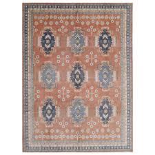 afghan hand knotted vegetable dye kazak wool rug 10 7 x 14 8