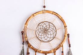 Bamboo Dream Catcher Beautiful Dream Catcher hand woven hemp rope Bamboo ring 3