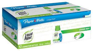 Amazon Com Liquid Paper Fast Dry Ledger Buff Correction Fluid