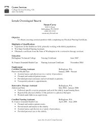 Gallery Of Cna Resume Template