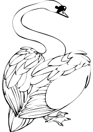 Small Picture Swan coloring pages animal pictures