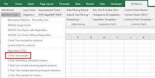 One Sample T Test T Test Excel T Test Calculator 1