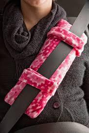 decorative seat belt pillow