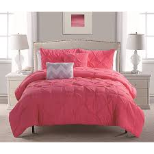 discontinued vcny home pink jana pintuck reversible chevron bedding comforter set decorative pillows included com