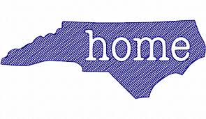 Sketch Style North Carolina Home Machine Embroidery Design - Home machine embroidery designs
