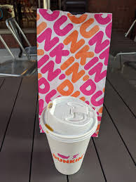 It is probably less than 16 oz. Julie S Dining Club Dunkin Donuts The Drinks