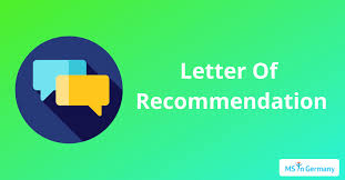 Letter Of Recommendation Lor Ms In Germany