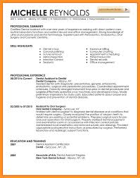 dental assistant resume skills list | bio letter format