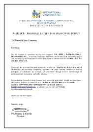 Business Proposals Format Enchanting Business Proposal Letter Format For Recruitment Agency Courtnews