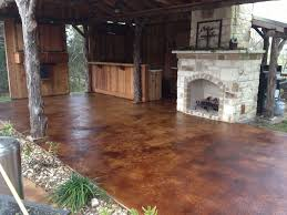 stained concrete patio before and after. Image Of: Stained Concrete Patio Before And After