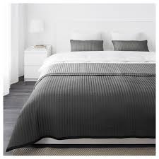 KARIT bedspread and 2 cushion covers, gray Bedspread length: 110