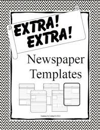 Extra Extra Newspaper Template Extra Extra Newspaper Templates For Expository Writing