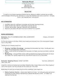 Summary Of Qualifications Bartender Resume Skills Best The Sample