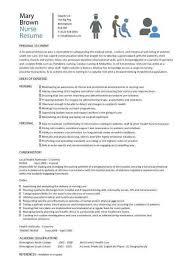 Writing A Nursing Resume Magnificent Nursing Resume Examples 48 Elegant Nursing Cv Template Nurse