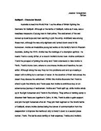 character sketch essay character sketch essay example gse  hd image of gallipoli character sketch gcse english marked by teachers com character sketch essay example