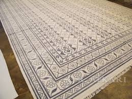 700072345 hand knotted cotton agra rug custom collection 12 x 9