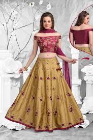 Lehenga Choli Designs Beige Color Wedding Wear Designer Lehenga Choli In Raw Silk Fabric