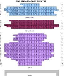 Ambassador Theatre Seating Chart Ambassadors Theatre Seating Plan