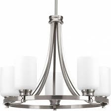 progress lighting orbitz collection 5 light brushed nickel for progress chandelier