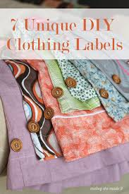 Diy Clothing Label Easy Diy Clothing Labels Crafting