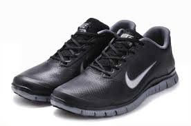 men s nike free 4 0 v3 leather running shoes black grey x6267 us soft