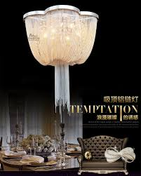 new design led aluminum chandeliers luxury light italy fringe hall hotel lobby chandelier crystal ceiling chain aluminum stairs
