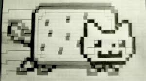 Nyan Cat Pop Up Screamers Around The Performation Nyan Graph Paper