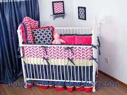 navy blue nurseries navy and hot pink chevron crib bedding navy in the nursery navy blue baby nursery ideas