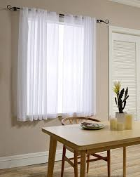 mysky home back tab and rod pocket window crushed sheer curtains for bedroom white