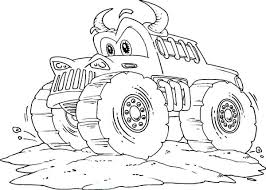 Monster Trucks Coloring Sheets Coloring Truck Monster Truck Coloring