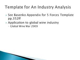 industry analysis template economics of strategy aec 422 unit 3 chapter 12 industry analysis