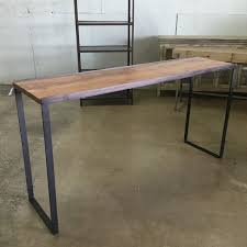 Narrow bar table Diy Industrial Narrow Bar Table Nadeau Industrial Narrow Bar Table Nadeau Miami