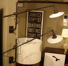 luxury industrial swing arm wall lamp pair of vintage o c white mount at by metal light