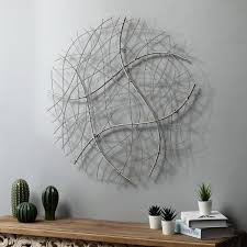 luxenhome large silver abstract round