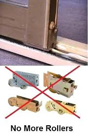 how to fix sliding door fix a sliding door without replacing the rollers with replacement wheels