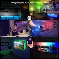 Multi Color Changing Led Lights Lombex Smart Wifi Led Light Strip Color Changing Rgb Light