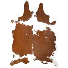 dark brown and white cowhide rug real 7 x 6 on free