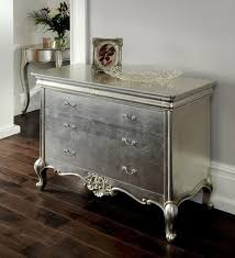 grey shabby chic bedroom furniture. cristal french silver 3 drawer chest set image grey shabby chic bedroom furniture